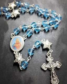 Handcrafted Aquamarine Rosary
