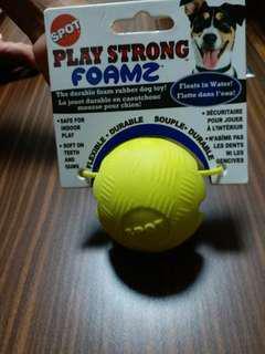 狗玩具(黃色可放食物$40另籃色玩具會發聲$60)