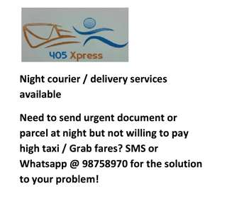 Night courier/delivery services