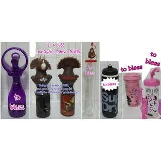 #Blessing Prelove Mist Bottle / USS Jurassic Park Bottles / Singapore Zoo Bottle / SuperDry Water Bottle & Minnie Mouse Bottles