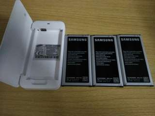samsung s5電池x3+battery charger 6成新