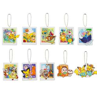 Pokemon Center Exclusive Pikachu Summer Life Acrylic Charm Collection (Pre-Order)