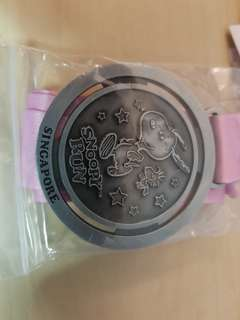 Snoopy Run 2018 Finisher's Medal and Wrist Band