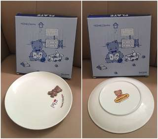 Sanrio Mr. Bear's Dream 1993 年 立體公仔陶瓷碟 (全新未用過) (直徑 7.5 吋) (** 只限北角地鐵站交收 **)