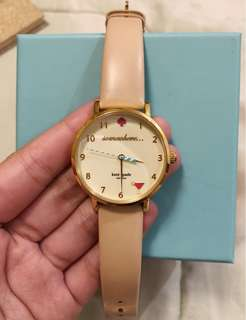 ❗️AUTHENTIC ORIGINAL❗️Preloved Kate Spade Leather Strap Watch in Nude
