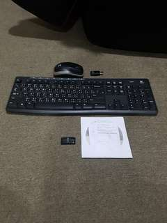 Logitech籃芽键盤滑鼠加tp-link無線wifi手指