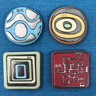 Vintage / Retro Old American Fossil Magnets (Set of 4)