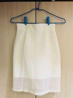 🚚 日本甜美牌🇯🇵Rouge Diamant 點點質感高腰包臀裙 高腰裙 窄裙 snidel