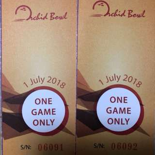 Orchid Bowling Tickets(Cheap!!!!)