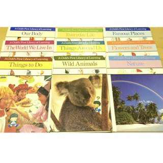9 x Hardcover Encyclopaedia Books for Children (A Child's First Library Of Learning)