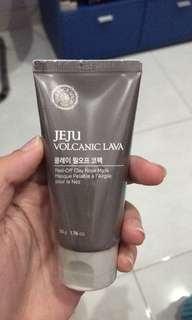 The face shop jeju volanic lava peel off nose clay mask