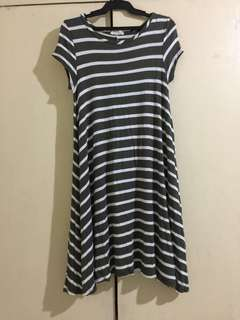 A-line/ wide bottom stripes dress