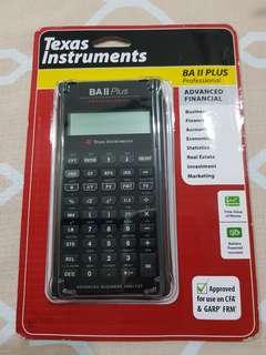 Texas Instruments BA II Plus Professional (CFA approved calculator)