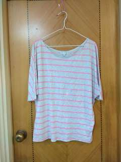 COTTON ON 女裝全棉上衣 Women's stripe cotton t-shirt