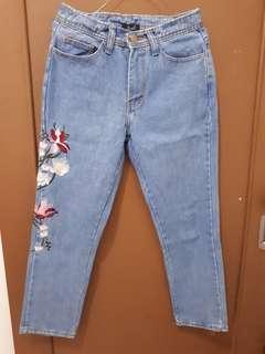 Celana boyfriend zara / Boyfriend jeans zara / jeans / jeans flower
