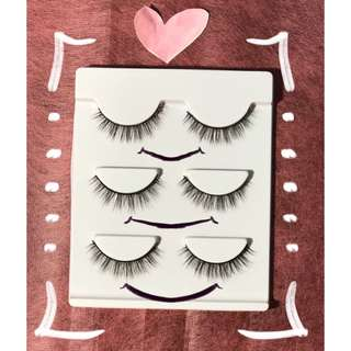 3D false lashes (3 pairs)