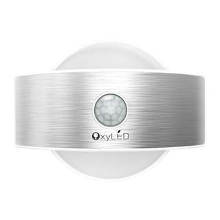 [IN-STOCK] OxyLED Wall Light, Rechargeable Wall Lamp, Up and Down Wall light,14 LED Motion Sensor Night Light, Indoor Security Light for Stair/Kitchen/Bathroom/Hallway/Closet (White Light, Semicircle Shape)