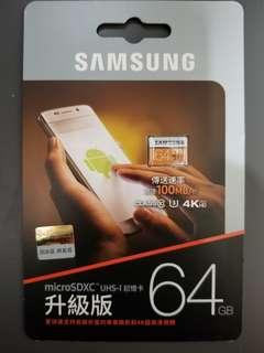 Samsung 三星 microSDXC 記憶卡 64GB