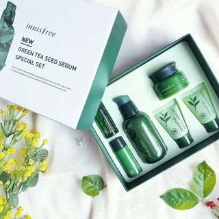 INNISFREE New Green Tea Seed Serum Special Set