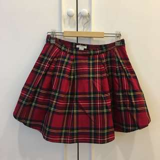 Forever 21 plaid/checkered pleated skirt
