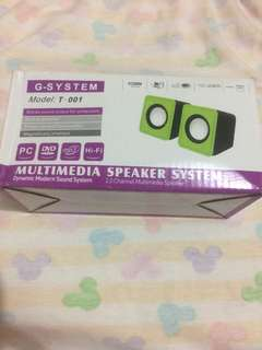 Multimedia speaker system warna merah tua