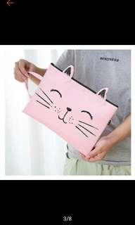 🔥Pussycat🔥A4 Size Laptop Sleeve Document Bag