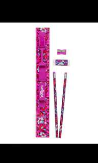 Smiggle ruler pencil eraser sharpener combo