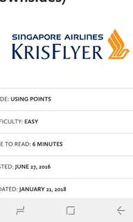 Kris flyer miles -50000