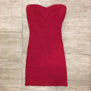 Forever 21 sexy red tube dress with padding