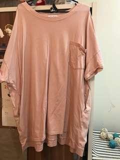 粉色飛鼠長版上衣