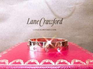 代訂 Cartier 卡地亞同款LOVE bracelet 18K玫瑰金閃耀鑽石手鐲手環