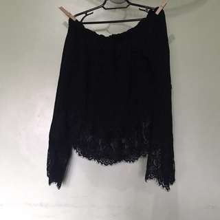 Forever 21 black off shoulder