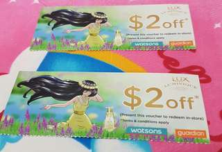 LUX HAIR $2 DISCOUNT VOUCHERS (MAILED)
