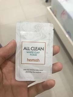 All clean white clay foam Heimish