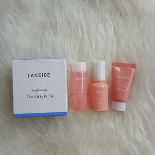 Laneige Fresh Calming Morning Routine Set (Trial Kit 3 items)