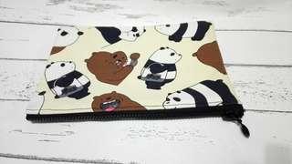 🚚 Canvas Zippers Pouch We Bare Bears