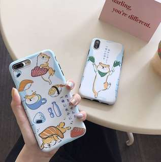 可愛柴犬軟殻全包iPhone Case