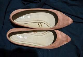 Rubi flat shoes pink - preloved