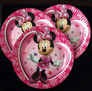 💖Premium Range Minnie Mouse party supply - party plates