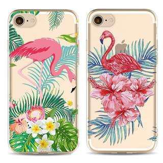 Flamingo iphone 5 5s 6 6s 7 8 plus X case
