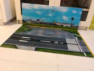 Airport Run way and Background for 1/200, 1/400 airplanes