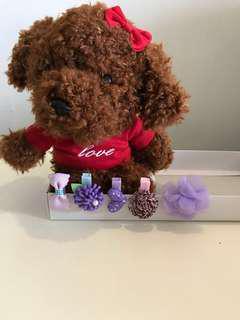 Sweet Purple Little Hair Clips