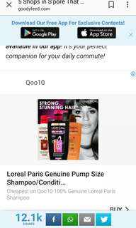 L'oreal /Loreal Hair Shampoo / Conditioner