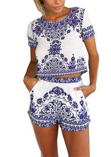 Blue Two Piece Set Size Small