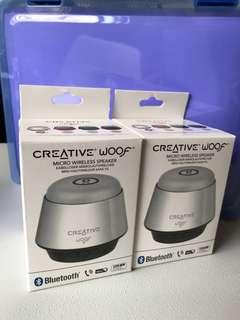 Creative Woof Micro Wireless Speaker w Bluetooth