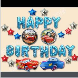Happy Birthday Party Decoration set - Cars 🚗