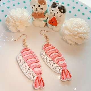 $40 全新蝦壽司耳環