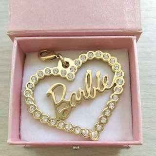 ❤️全新專櫃Barbie水鑽金色吊飾❤️