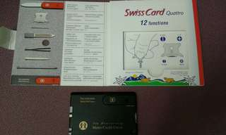 The Victorinox Swiss card Quattro