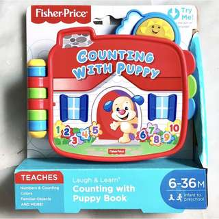 (In-Stock) Fisher-Price Laugh & Learn Counting with Puppy Book (Brand New)